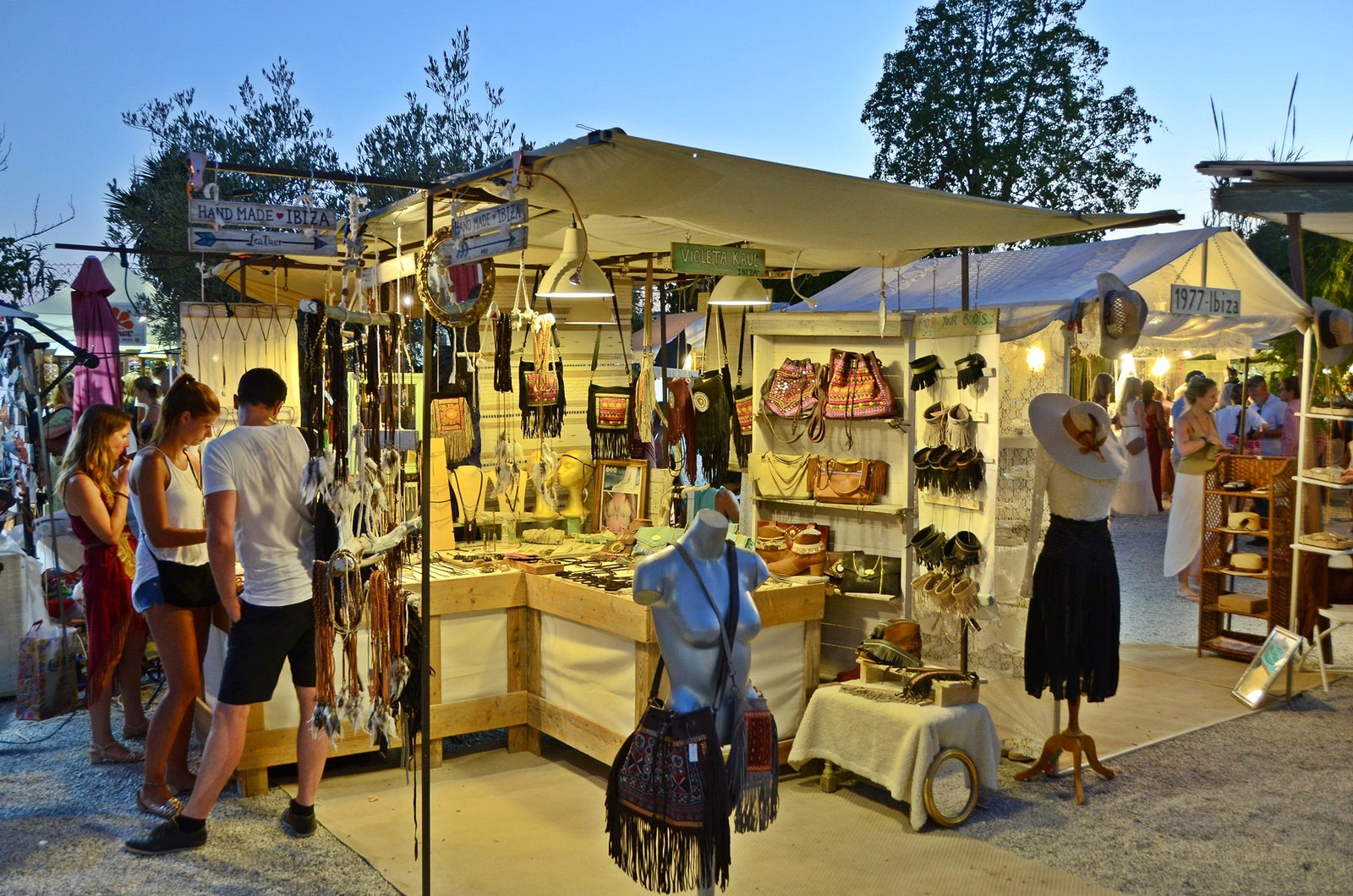 A jump into the past through the lively hippy markets of Ibiza